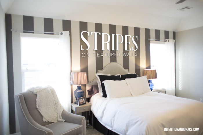 Stripes-on-textured-walls