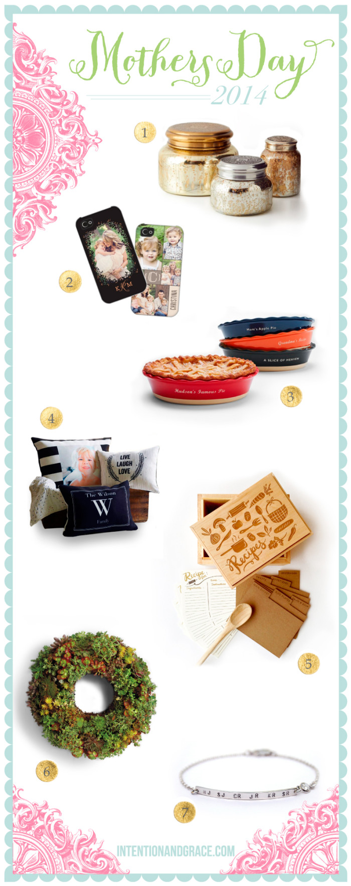 Great Mothers Day 2014 Gift Ideas for Grandmothers, Step Mothers, Mother-in-law and all moms alike  |  Intentionandgrace.com