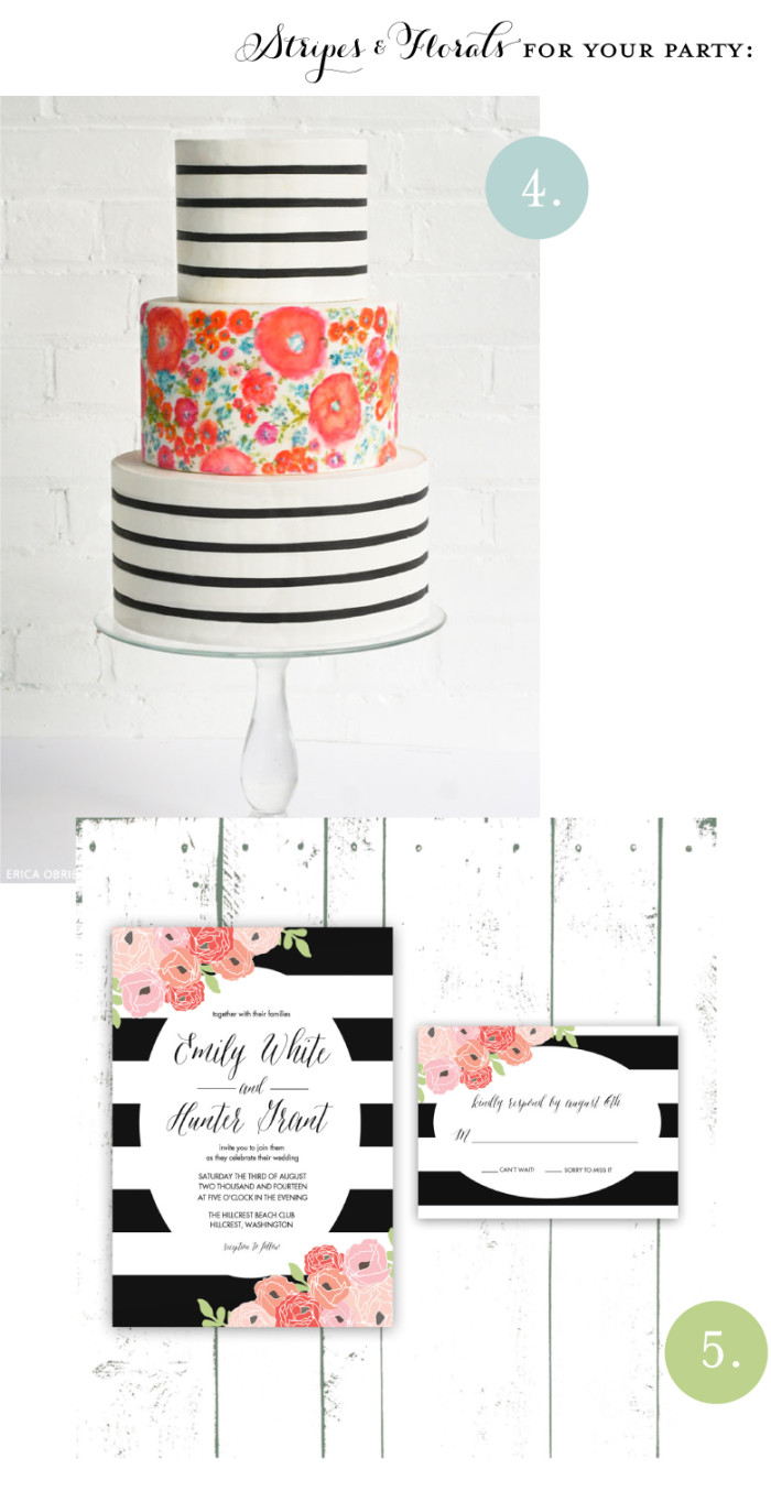 Mixing Patterns: Stripes and Floral. For the home, closet, or party planner this trending style is great for spring.  |  Intentionandgrace.com