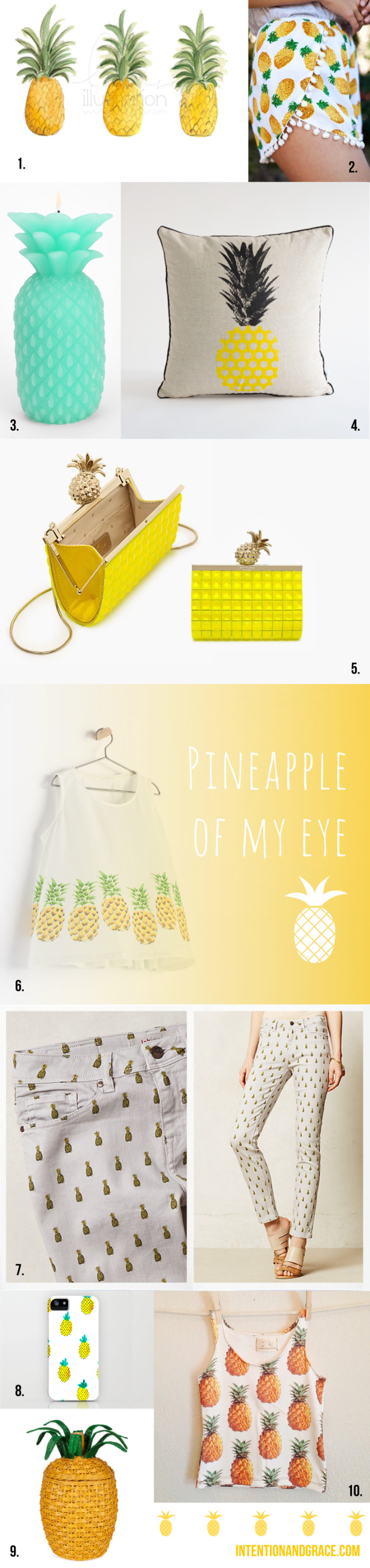 Trending: Pineapple and other fruit prints for summer  |  intentionandgrace.com