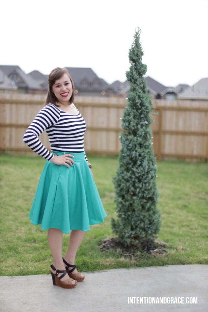 DIY Midi Circle Skirt  |  intentionandgrace.com