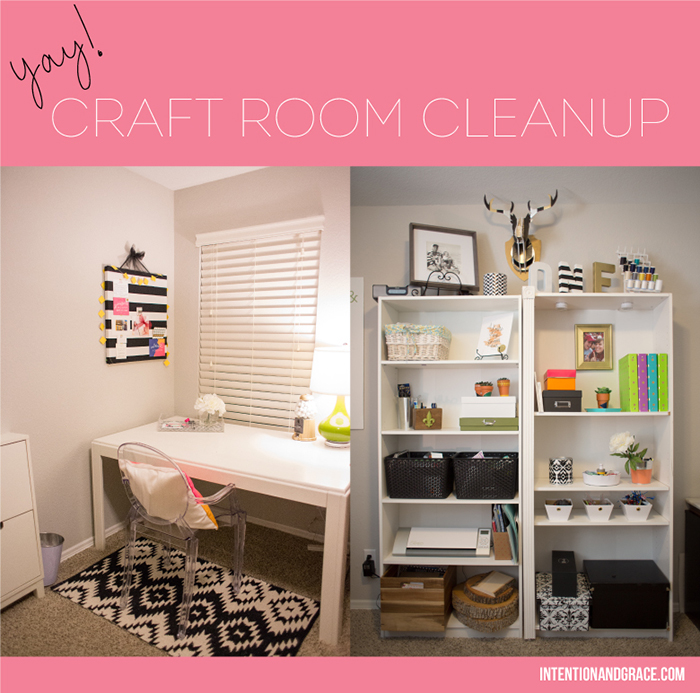 Craft Room Cleanup and storage solutions  |  intentionandgrace.com
