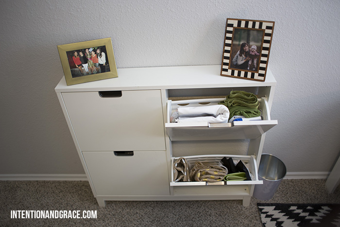 IKEA shoe rack for fabric storage