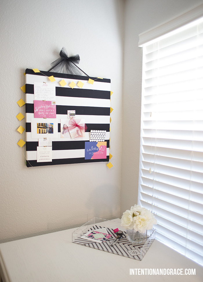 DIY striped cork board