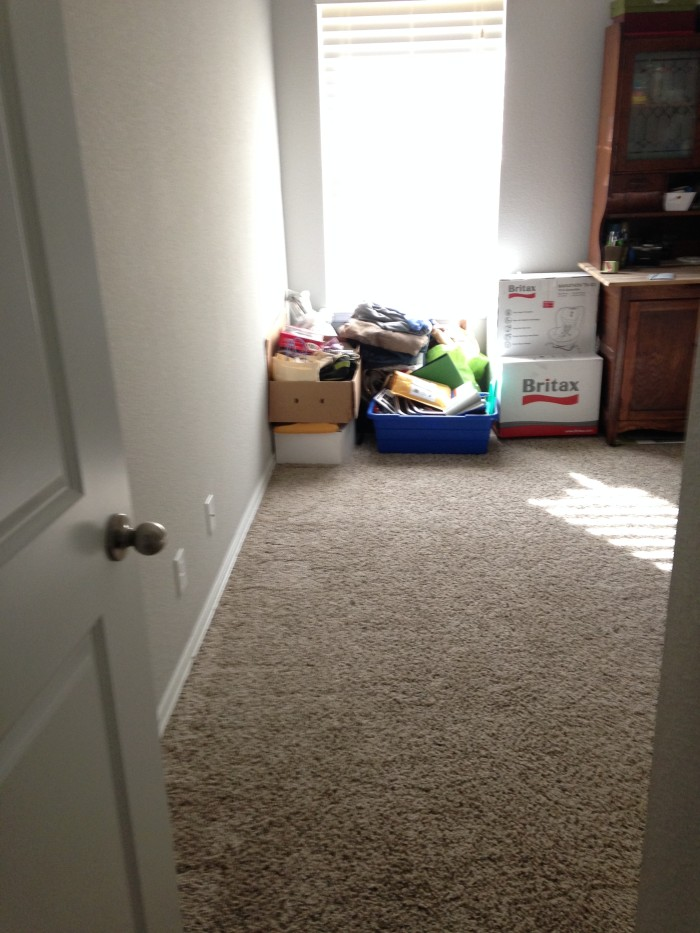 Before and after craft room storage cleanup
