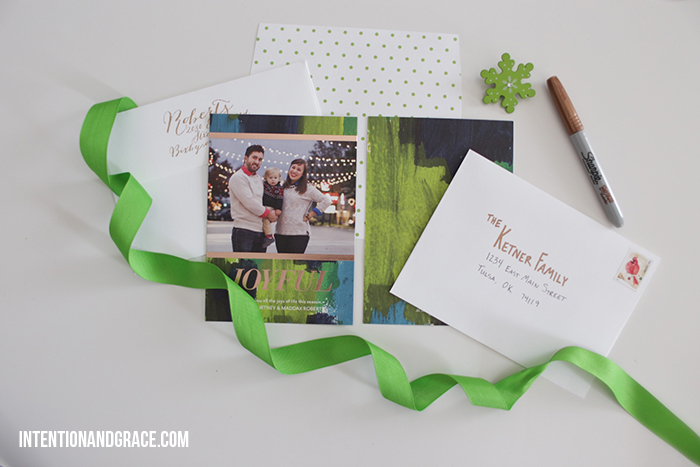 Tiny Prints Holiday Cards | 5 tips when ordering Christmas cards this season  |  intentionandgrace.com