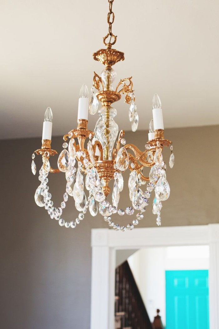 DIY Copper repurosed chandelier