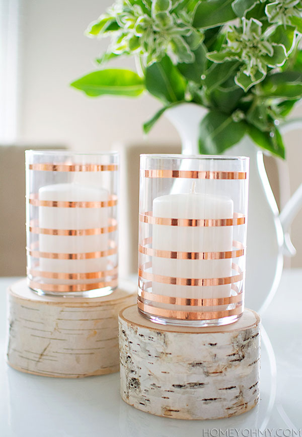 DIY copper vases
