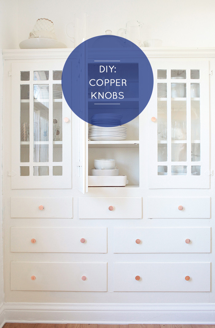 DIY Copper drawer pulls or knobs