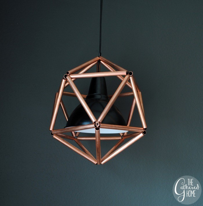 DIY Copper pipe pendant light