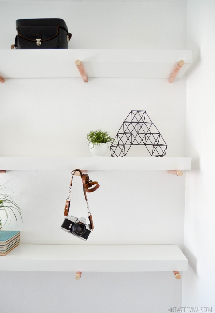 diy copper peg shelving