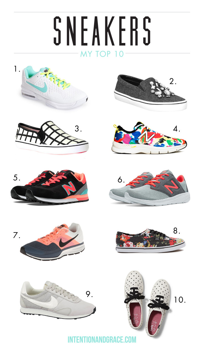 Top ten sneakers for 2015 style and fashion