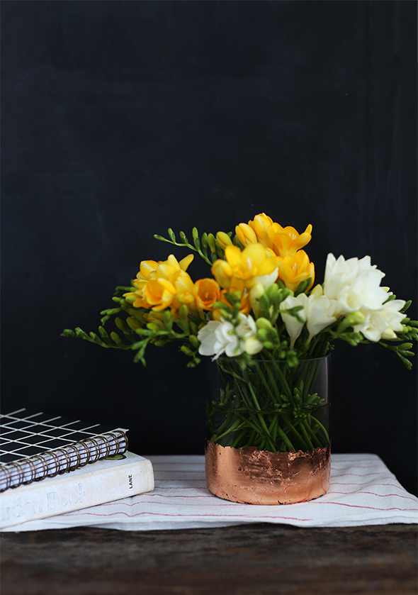 diy copper foil vase