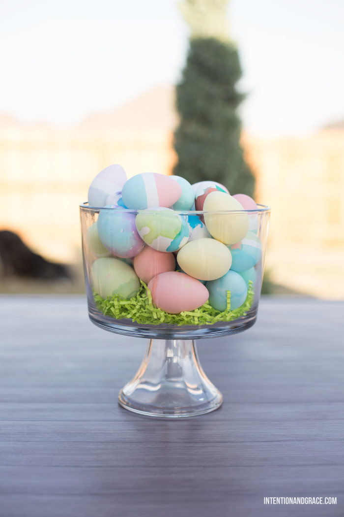 Dyeable craft easter eggs - fake eggs for dyeing | intentionandgrace.com