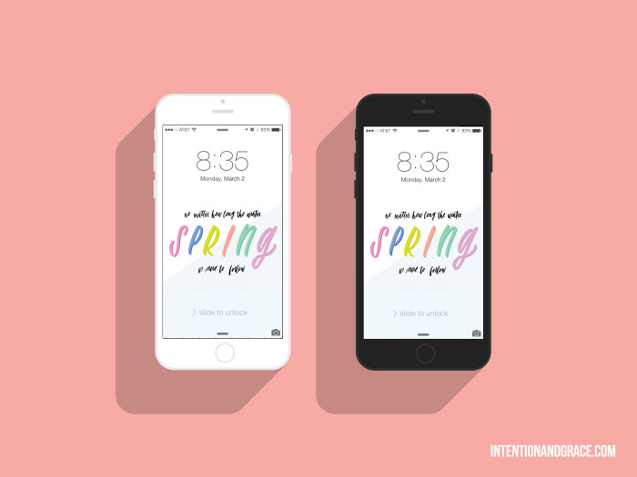 Spring 2015 March iPhone wallpapers