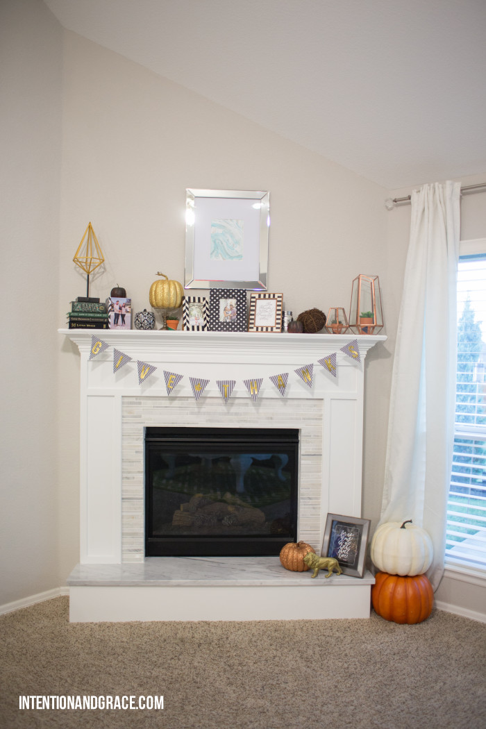Final fireplace DIY reveal