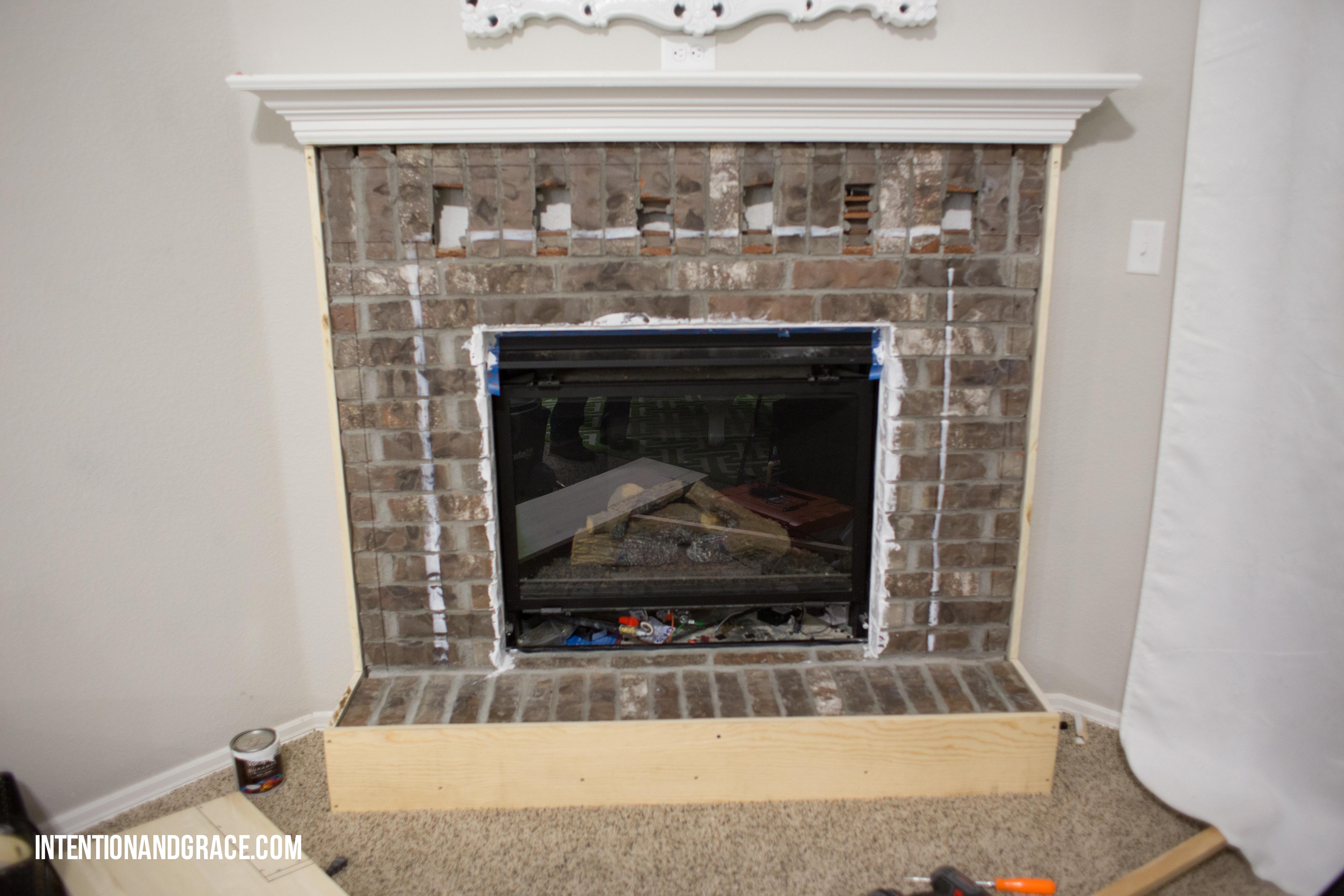 modern fireplace makeover intention u0026 grace