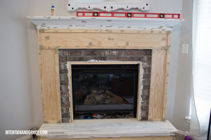 Framing a fireplace