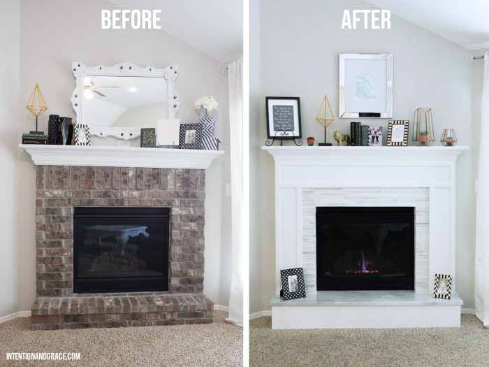 Modern Fireplace Makeover Intention Grace