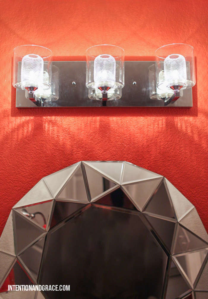 mirror and fixture closeup